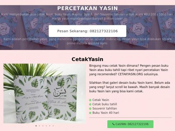 cetakyasin.org